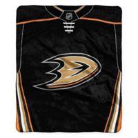 NHL Anaheim Ducks Super-Plush Raschel Throw Blanket