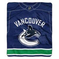 NHL Vancouver Canucks Super-Plush Raschel Throw Blanket