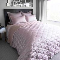 Nikki Chu Reversible Brushed Velvet Twin Blanket in Rose Gold