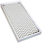 kushies® Cotton Flannel Change Pad Fitted Sheet in Chevron Grey
