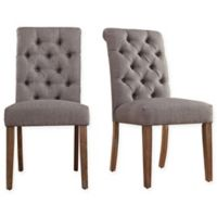 Verona Home Radcliffe Button-Tufted Dining Chairs in Grey (Set of 2)