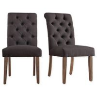 Verona Home Radcliffe Button-Tufted Dining Chairs in Dark Grey (Set of 2)