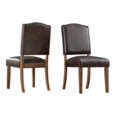 Verona Home Radcliffe Shield Back Dining Chairs In Brown Set Of 2