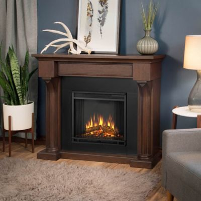 real flame verona electric fireplace in chestnut oak - Electric Fireplace Mantels