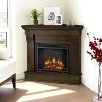 Real Flame® Chateau Corner Electric Fireplace in Dark Walnut
