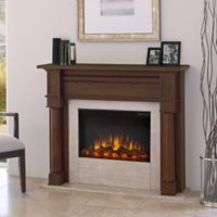 Real Flame® Berkeley Electric Fireplace in Chestnut Oak