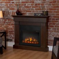 Real Flame® Crawford Slim Electric Fireplace in Chestnut