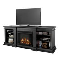 Real Flame® Fresno Electric Fireplace and Media Center in Black
