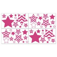 Sweet Jojo Designs Chevron Wall Decals in Pink and White