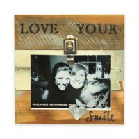 "Sweet Bird Love Your Smile Wood 8""x8"" Picture Frame in Blue Whisper"