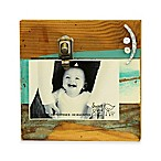 "Sweet Bird Smile Clip 8""x8"" Wood Photo Frame in Cool Breeze"