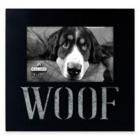 "Malden® 4-Inch x 6-Inch ""Woof"" Galvanized Picture Frame in Black"