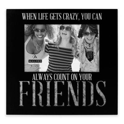 malden 4 inch x 6 inch friends galvanized picture frame in