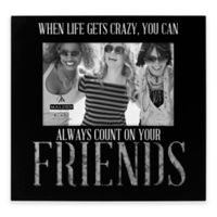 "Malden® 4-Inch x 6-Inch ""Friends"" Galvanized Picture Frame in Black"