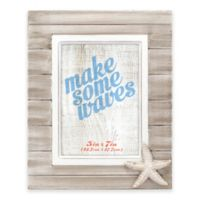 Malden® Rustic Starfish 5-Inch x 7-Inch Wooden Picture Frame