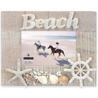Malden® 5-Inch x 7-Inch Coastal Beach Wooden Photo Frame in Beige