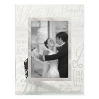 "Prinz 6-Inch x 4-Inch Wedding Anniversary ""Mr. & Mrs."" Glass Picture Frame"