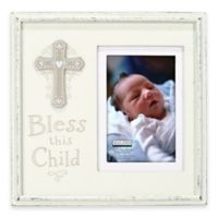 """Malden® 4-Inch x 6-Inch """"Bless This Child"""" Wood Picture Frame"""