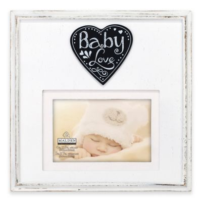 malden baby love 4 inch x 6 inch wood picture frame