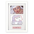 Malden Designs® Baby Memento 4-Inch x 6-Inch Shadow Box in White