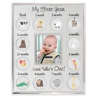 """Malden® 13-Photo """"My First Year"""" Metal Collage Picture Frame"""