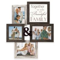 """Malden® """"Family"""" 4-Photo Collage Picture Frame in Black"""