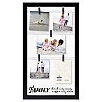 "Malden® ""Family, Live, Love"" 5-Photo Collage Picture Frame in Black"