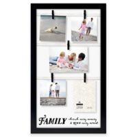"Malden® ""Family, Live, Love"" 5-Photo Collage Picture Frame in Black"