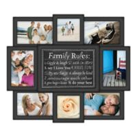 "Malden® ""Family Rules"" 8-Photo Collage Picture Frame in Black"