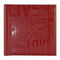 """Live, Laugh, Love"" 200-Photo Album in Red"