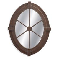 Basset Mirror Company 34-Inch x 43-Inch Folly Mirror in Weathered Grey