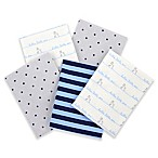 Gerber® 5-Pack of Flannel Receiving Blankets in Blue