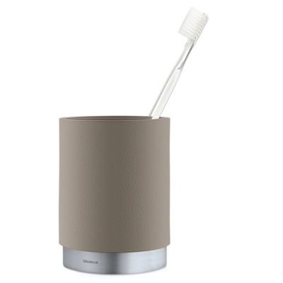 Stainless Toothbrush Holder in Taupe. Buy Stainless Steel Toothbrush Holder from Bed Bath   Beyond