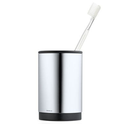 Blomus Toothbrush Holder in Stainless Steel  Buy Stainless Steel Toothbrush  Holder from Bed Bath Beyond. Wall Mounted Toothbrush Holder Bed Bath And Beyond