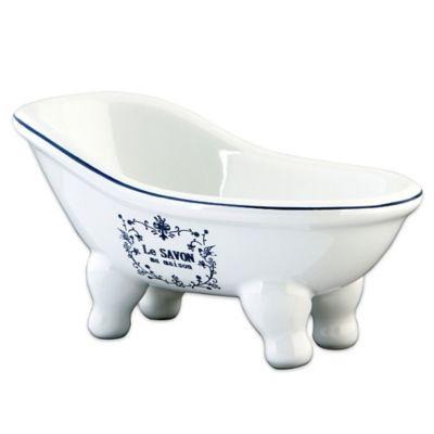 Kingston Brass Aqua Eden Le Savon 6 Inch Mini Bathtub Soap Dish In White