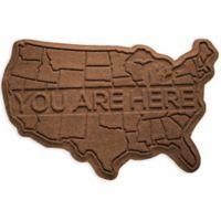 Weather Guard™ USA 2-Foot x 3-Foot Door Mat in Dark Brown