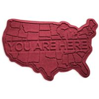 Weather Guard™ USA 2-Foot x 3-Foot Door Mat in Red/Black