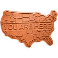 Weather Guard™ USA 2-Foot x 3-Foot Door Mat in Orange
