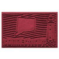 Weather Guard™ Connecticut 2-Foot x 3-Foot Door Mat in Red/Black