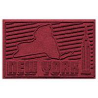 Weather Guard™ New York 2-Foot x 3-Foot Door Mat in Red/Black