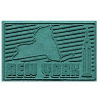 Weather Guard™ New York 2-Foot x 3-Foot Door Mat in Aquamarine