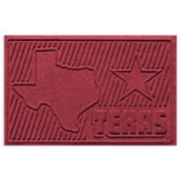 Weather Guard™ Texas 2-Foot x 3-Foot Door Mat in Red/Black