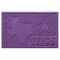 Weather Guard™ Texas 2-Foot x 3-Foot Door Mat in Purple