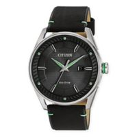 Citizen Eco-Drive Men's 42mm Drive CTO Watch in Stainless Steel with Black Leather Strap