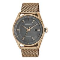 Citizen Eco-Drive Men's 42mm Drive CTO Watch in Rose Goldtone Stainless Steel with Mesh Bracelet