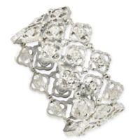 1928® Jewelry Silvertone Quatrefoil 7-Inch Stretch Bracelet