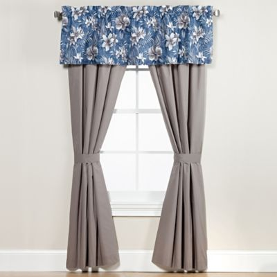 anguilla valance in blue