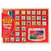 Melissa & Doug Favorite Things Wooden Stamp Set