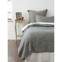 Amity Home Carter Herringbone King Duvet Cover in Grey
