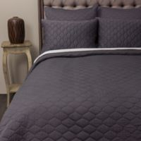 Amity Home Mossie King Quilt in Steel Blue
